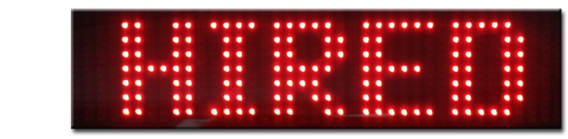 The iToplight smart taxi sign can show many different types of messages